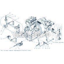 МКСМ-800 Установка подвесок, трубопровода и передаточного звена
