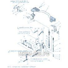 МКСМ-800 Управление стояночным тормозом