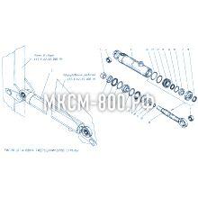 МКСМ-800 Установка гидроцилиндров стрелы