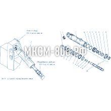 МКСМ-800 Установка гидроцилиндров ковша