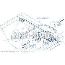 МКСМ-800 Установка проблескового фонаря и плафонов освещения кабины