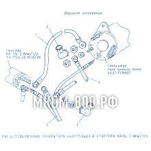 МКСМ-800 Подключение генератора и стартера