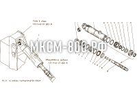 Установка гидроцилиндров ковша МКСМ-800