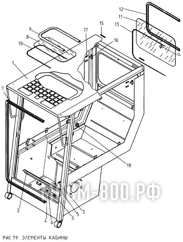 МКСМ-800 - Элементы кабины