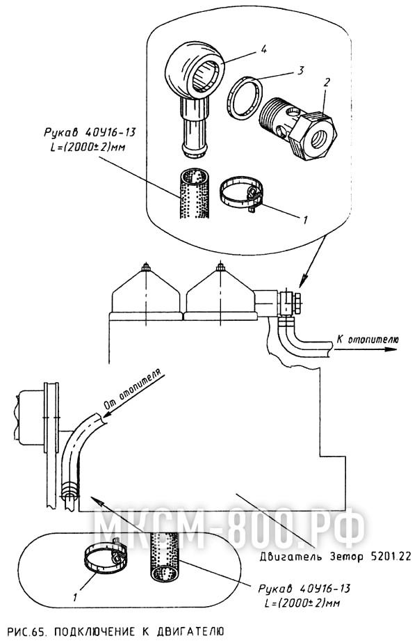 МКСМ-800 - Подключение к двигателю