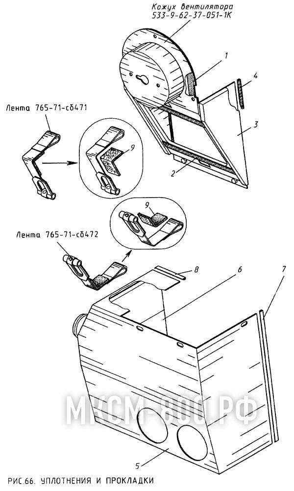 МКСМ-800 - Уплотнения и прокладки