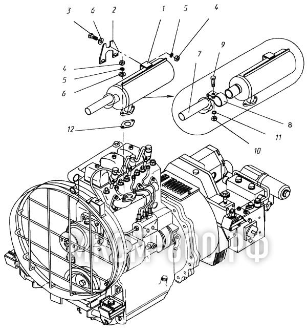МКСМ-800 - Установка глушителя