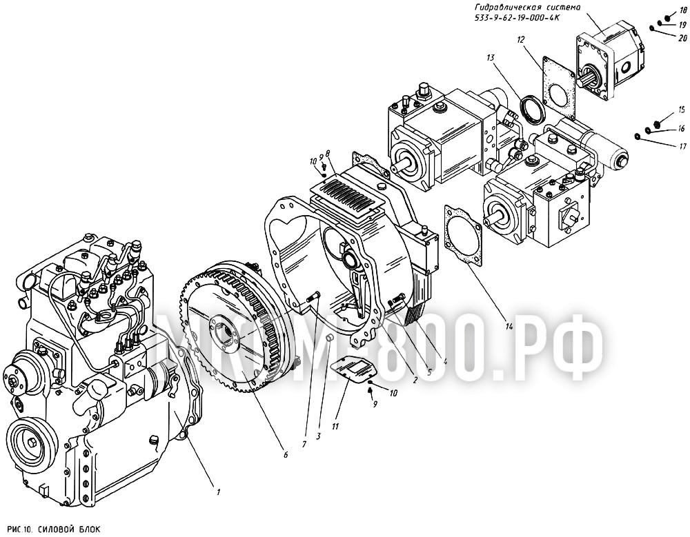 МКСМ-800 - Силовой блок
