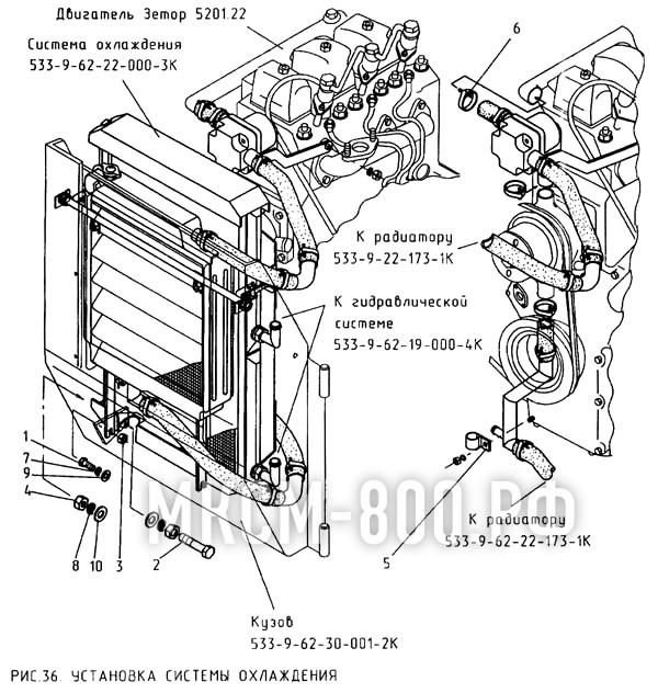 МКСМ-800 - Установка системы охлаждения