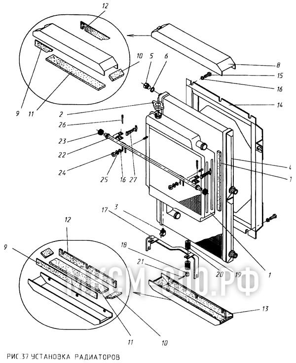 МКСМ-800 - Установка радиаторов