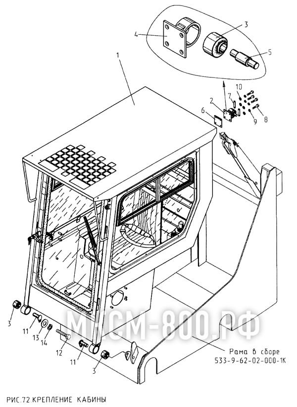 МКСМ-800 - Крепление кабины
