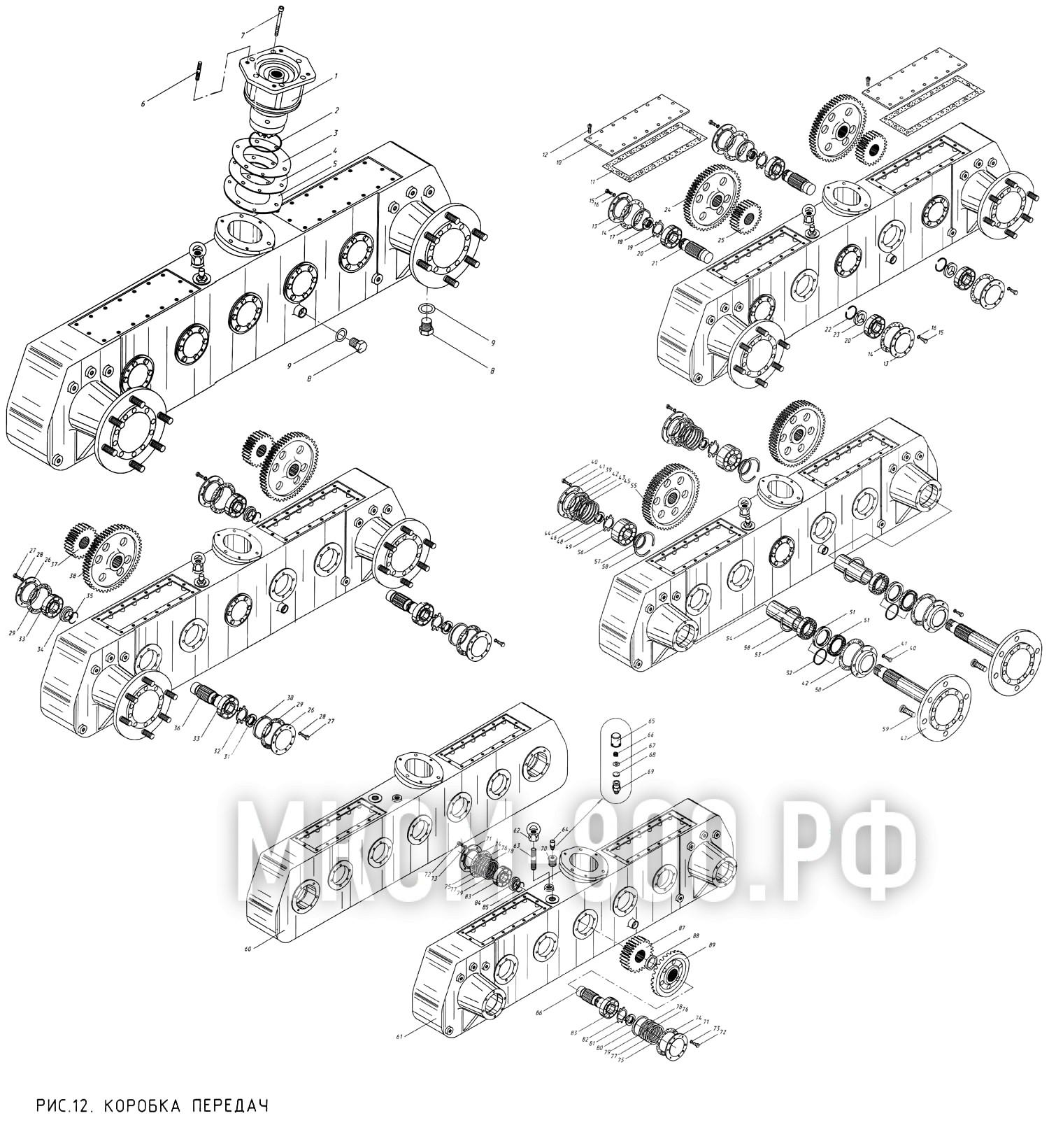 МКСМ-800 - Коробка передач