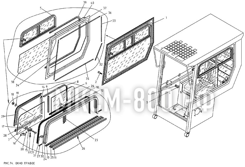 МКСМ-800 - Окно правое