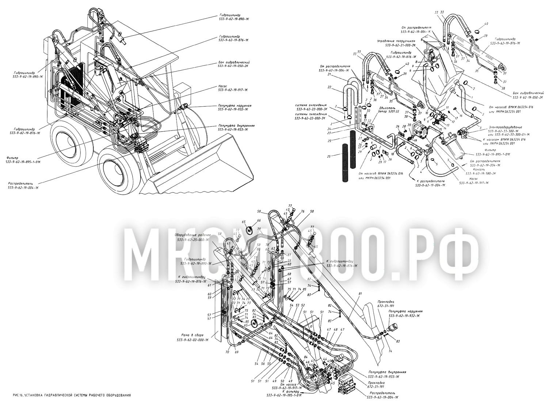 МКСМ-800 - Установка гидравлической системы рабочего оборудования