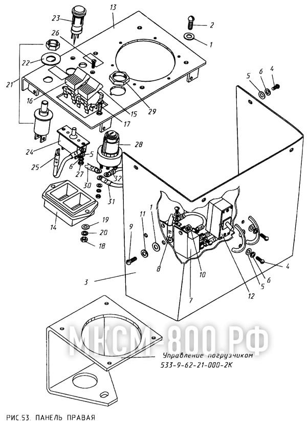 МКСМ-800 - Панель правая