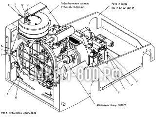 Установка двигателя МКСМ-800