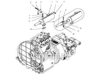 Установка глушителя МКСМ-800