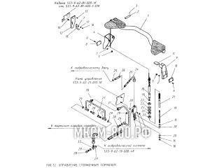Управление стояночным тормозом МКСМ-800